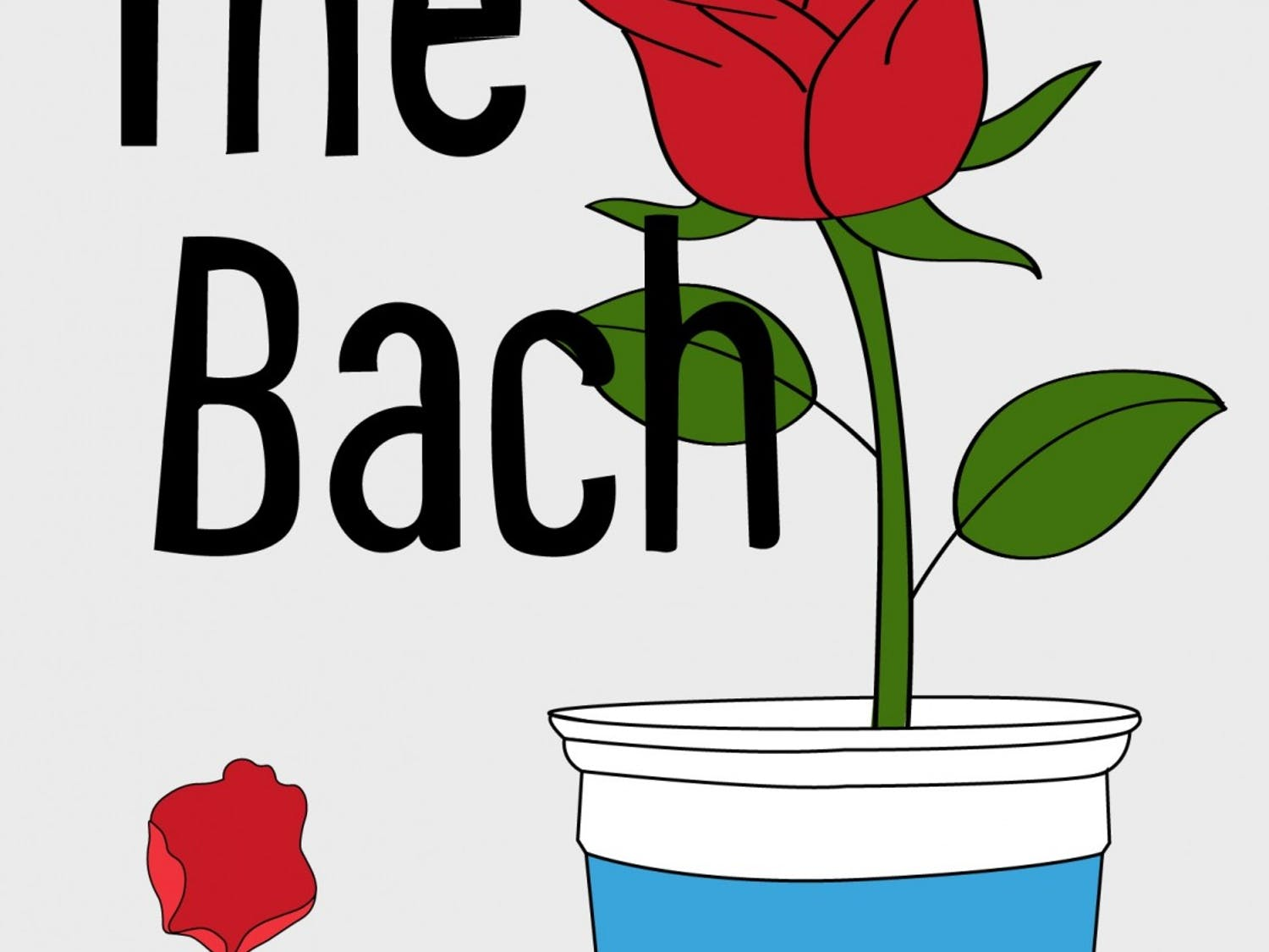 """Student TV's newest show """"The Bach"""" is a UNC spin on ABC's hit shows """"The Bachelor"""" and """"The Bachelorette."""" Graphic courtesy of Elinor Kelly and Kendal Orrantia."""