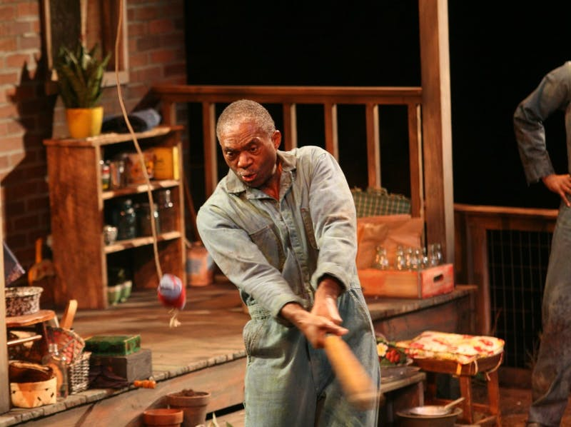 Charlie Robinson stars as Troy, a garbage man, in the play Fences at Paul Green Theatre.