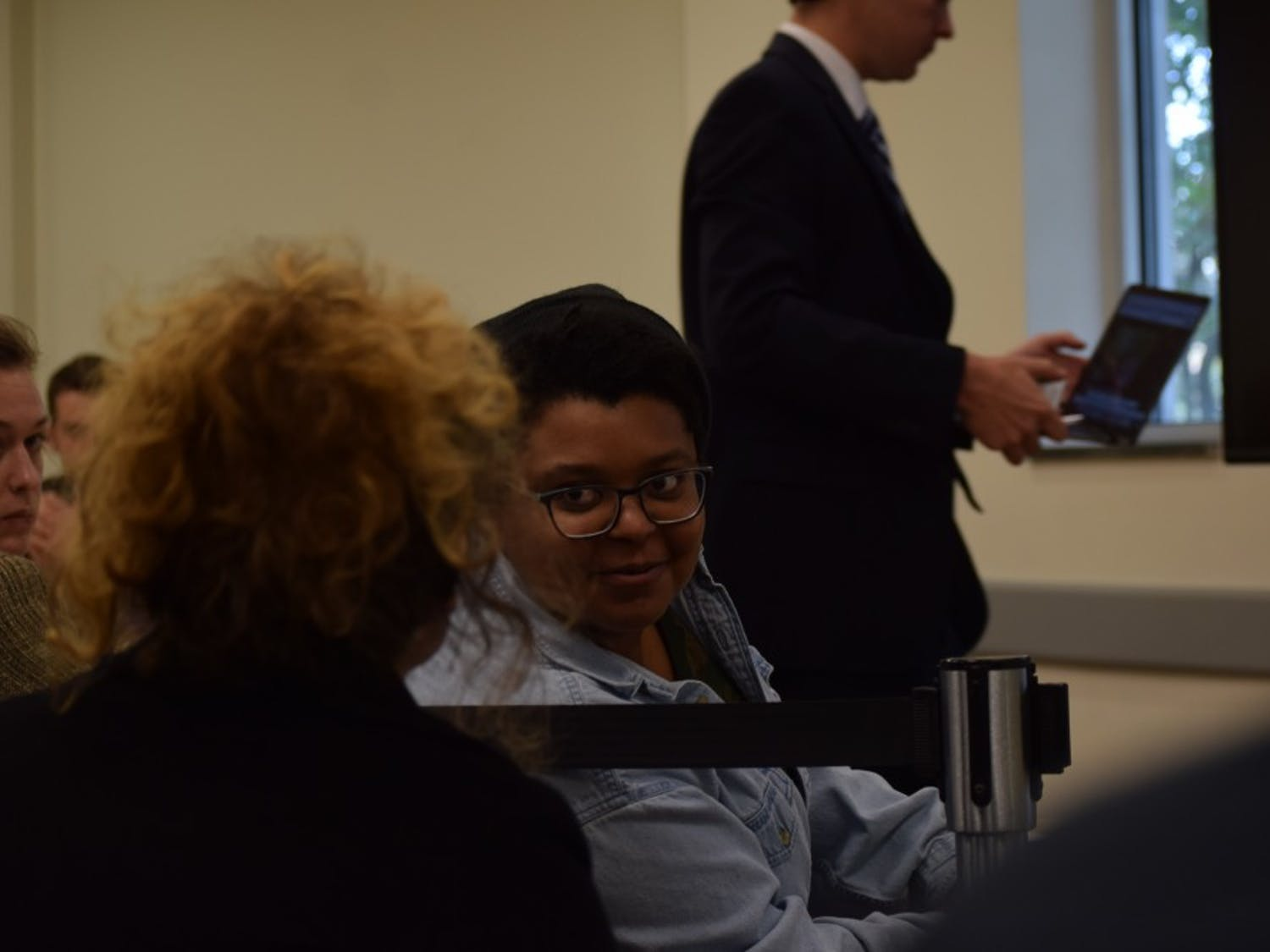 Maya Little pleaded not guilty to her charge of violating the honor code at her honor court hearing at the UNC Student Union on Thursday, Oct. 25, 2018.
