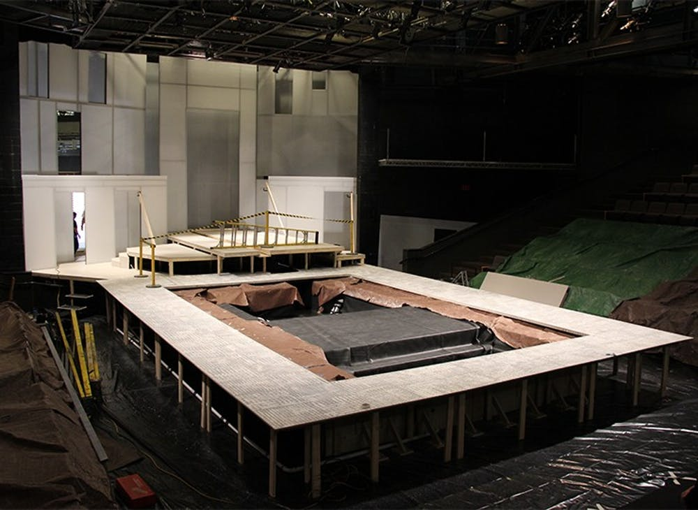 PlayMakers Repertory Company is building a pool that will soon be full of 15 tons of water in the Paul Green Theatre for its upcoming Metamorphoses and Tempest shows. 