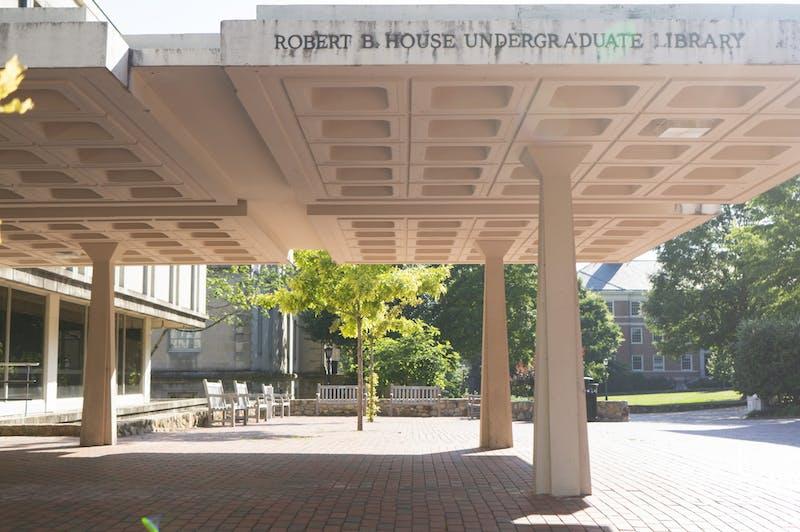 The entrance UNC's Undergraduate Library on Sunday, June 7, 2020.