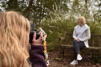 Freelance Serena Dalsimer takes senior portraits and graduation pictures for UNC students. Dalsimer loves photography because she can capture special moments and continues to do it because she gets the opportunity to meet and interact with lots of people.