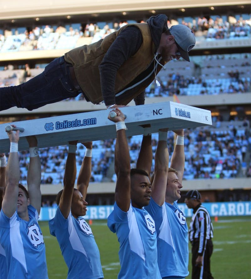 The UNC football team goes undefeated in Kenan Stadium for the 2015 season after their win against Miami on Saturday afternoon.