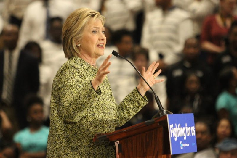 Hillary Clinton spoke on topics ranging from the state of public education to critiques of the current North Carolina legislature.