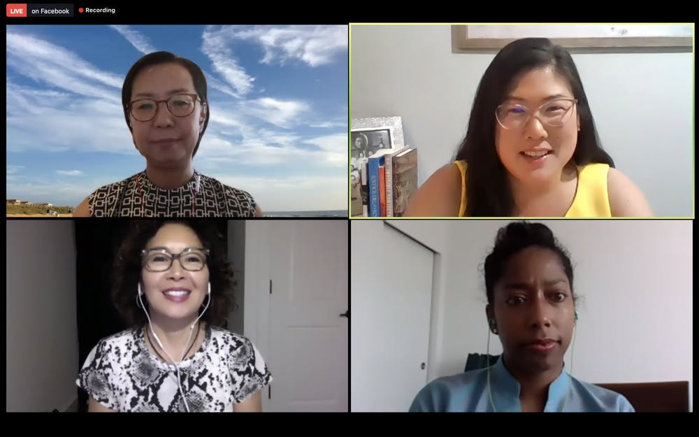 """<p>Screenshot from the virtually-held Asian American Center kickoff event, """"I'm Not Racist...Am I""""?: A Discussion on Antiracism presented by the Asian American Center and Carolina Asia Center on Thursday, Sept. 10.</p>"""