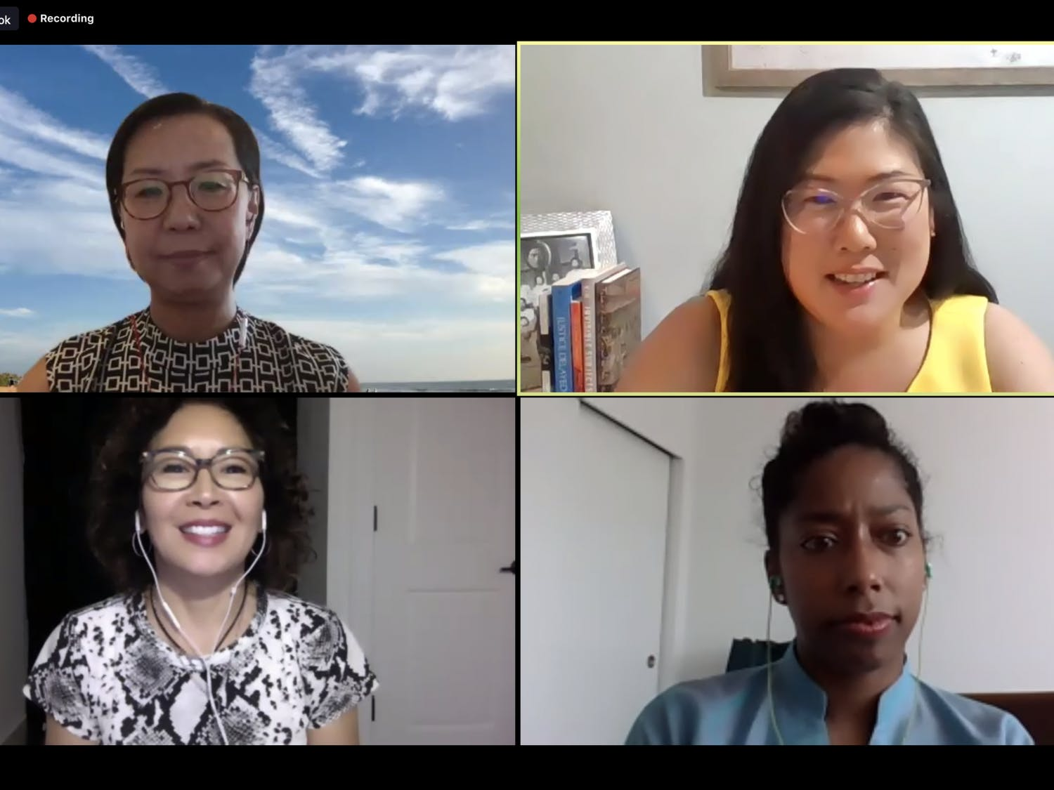 "Screenshot from the virtually-held Asian American Center kickoff event, ""I'm Not Racist...Am I""?: A Discussion on Antiracism presented by the Asian American Center and Carolina Asia Center on Thursday, Sept. 10."