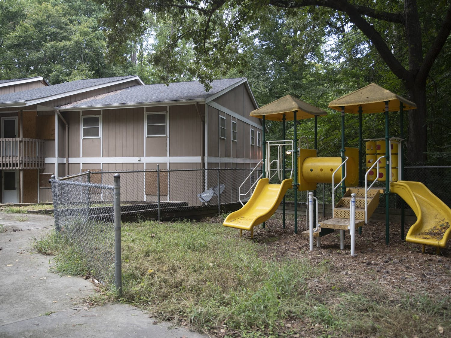 Trinity Court public housing community remains vacant due to structural damage on Saturday, Aug. 29, 2020. Trinity Court is set for demolition and rebuilding starting in 2022.