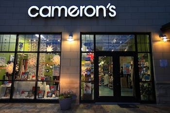 Camerons, a local gift shop and gallery in Carrboro, is closing after almost 40 years. The store nears closing time on wednesday nov. 14, 2018.