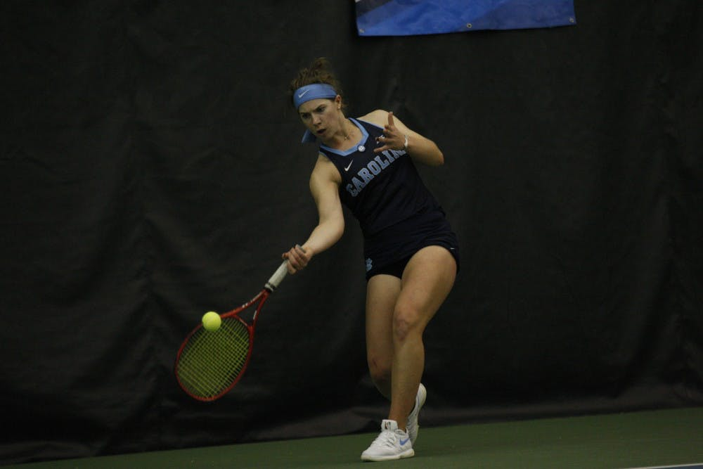 Aney and Graham lead UNC women's tennis to 4-1 victory over No. 3 Duke