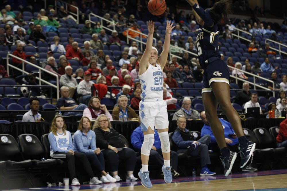 Jocelyn Jones and Leah Church live up to challenge for UNC against Georgia Tech