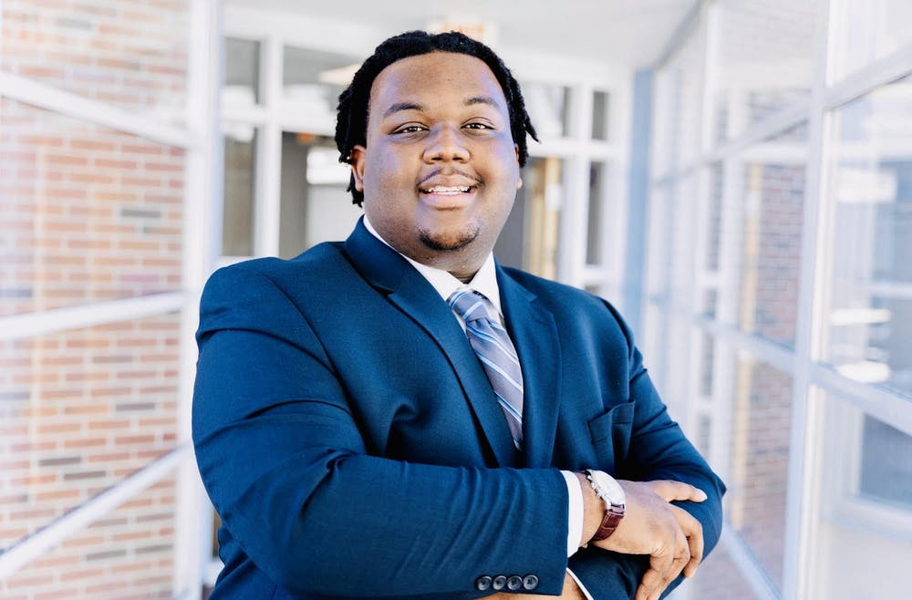 Lamar Richards is one of two candidates running for Student Body President. Photo courtesy of Hanna Wondmagegn.