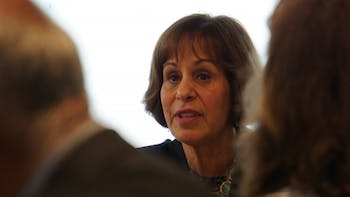 Chancellor Carol Folt speaks at a faculty executive committee meeting on Monday, Sept. 24.