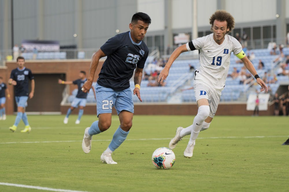 In a chippy rivalry game, UNC men's soccer blows 2-0 lead in loss to Duke