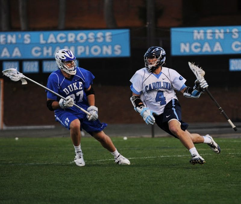 Senior Billy Bitter scored three goals on 10 shots against the Blue Devils, but it wasn't enough as the Tar Heels fell to Duke 14-9 at home.