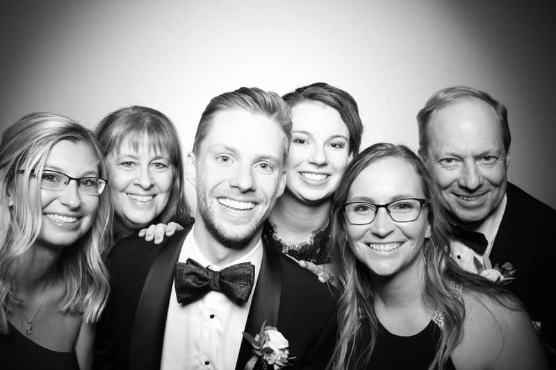 From left to right: Abby Biehl, Lisa Biehl (mother), Alex Biehl (brother), Lydia Ralston (sister), Gretchen Biehl (sister) and Jay Biehl (father). Photo courtesy of Abby Biehl.