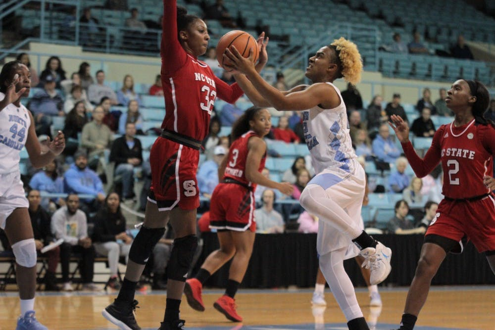 UNC women's basketball falls to rival NC State at home, 66-53