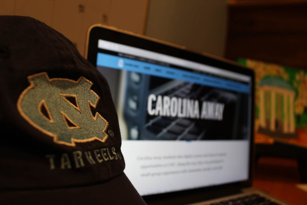 """DTH Photo Illustration. In the Spring 2021 semester, the Carolina Away program is expanding to include a new """"opportunity curriculum and a social activity hub""""."""