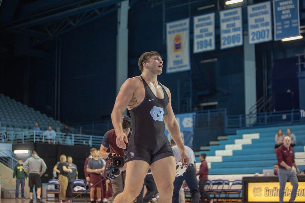 Daniel wins late bout to lift No. 15 UNC wrestling over No. 11 Virginia Tech, 18-14