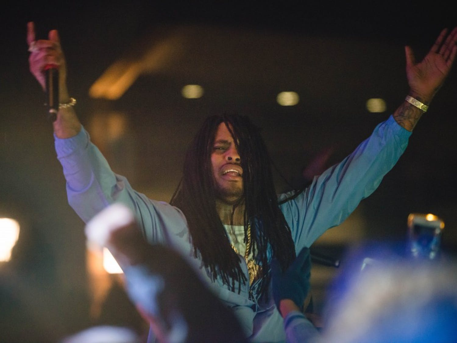 Waka Flocka Flame, DJ Luke Nasty, and Hollywood COLD perform during CUAB Jubilee 2018 on Saturday, April 7.