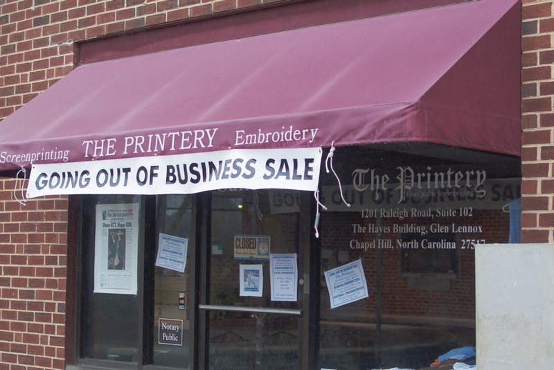 The Printery off Raleigh Rd is closing, as the owners, Nick and Sarah Hammond are retiring.