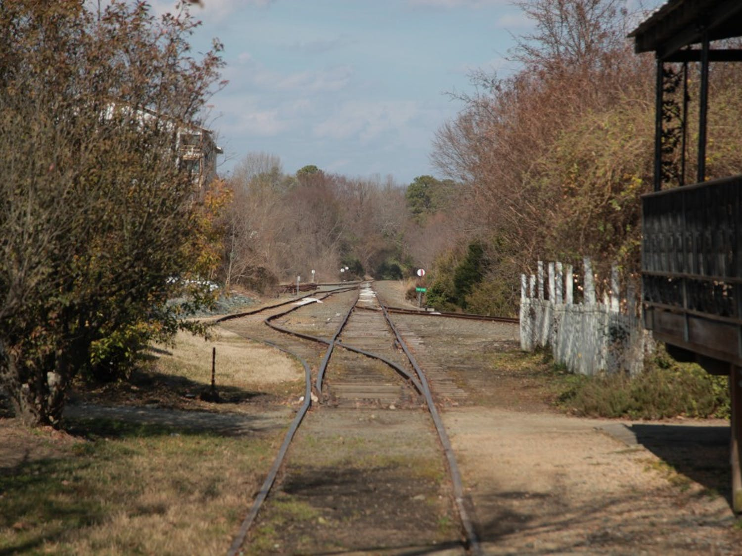Sometimes you can hear the train making its way through Carrboro--even if you can't see it, as was the case on Wednesday afternoon.