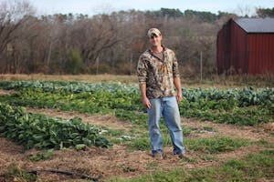 Jonathan Ray is the owner of Cates Corner Farm which supplies produce to many local restaurants and farmers markets.