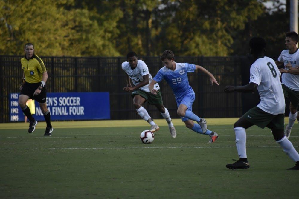 No. 5 UNC men's soccer scrapes together 2-0 victory over Jacksonville