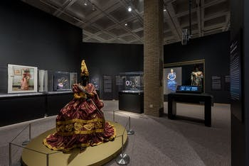 "One section of the ""Good as Gold:Fashioning the Senegalese"" exhibit is photographed at the NCMA. Photo courtesy of Kat Harding"