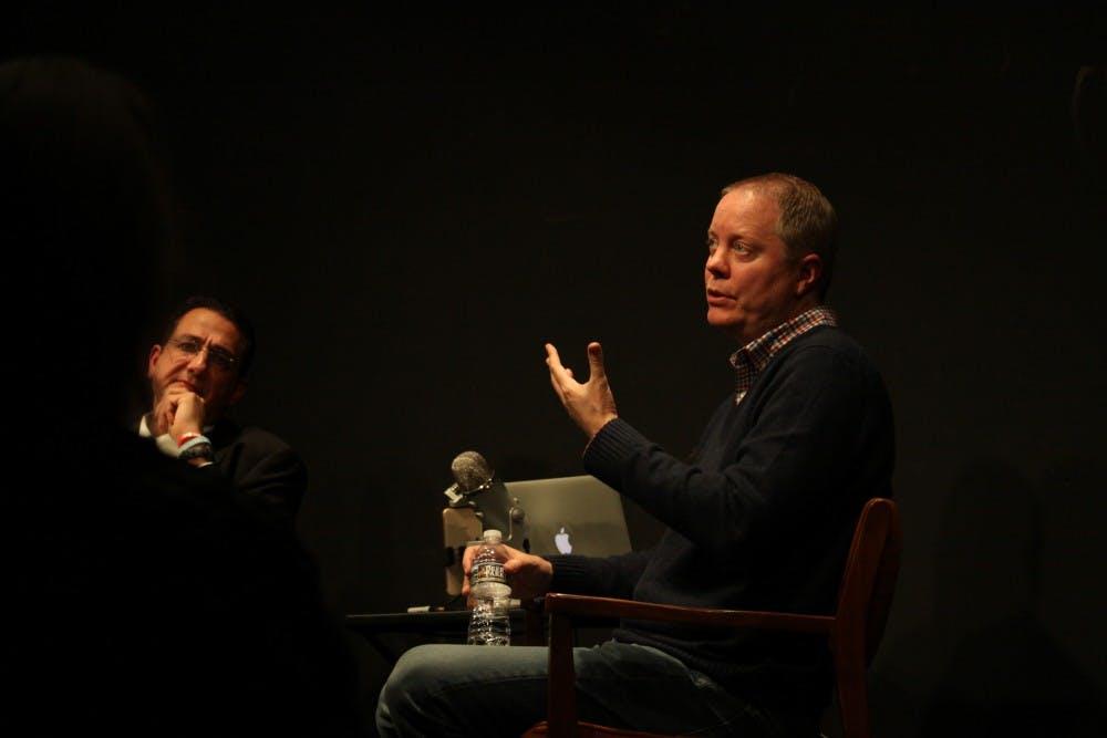 SNL writer and UNC alumnus Bryan Tucker spoke at the PIT-Chapel Hill