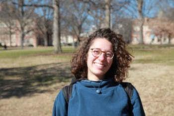 Lora Razzon, a junior and biology major, gives her thoughts on Folt's last day on the upper quad Thursday, Jan.30, 2018.