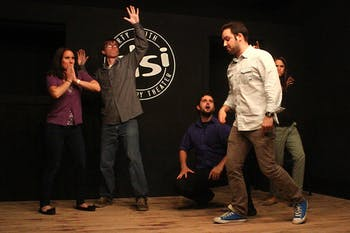 Starting Block, a showcase of incubator teams, performed at DSI Comedy on Tuesday night at the new Franklin Street location.