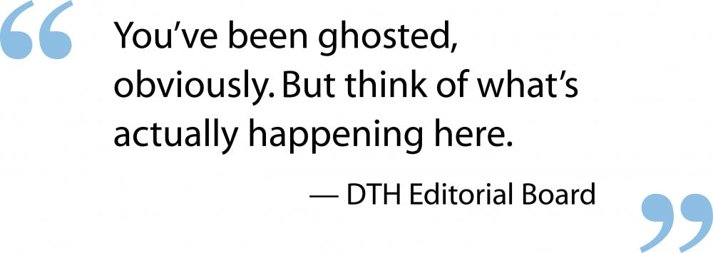 Editorial: It's not ghosting if the relationship was never alive
