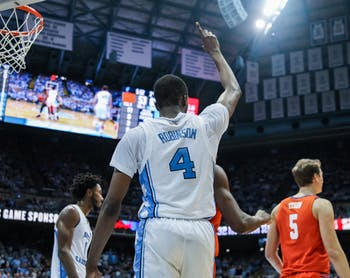 UNC's senior guard Brandon Robinson during a game against Clemson at the Dean Smith Center on Saturday, Jan. 11, 2020. Clemson defeated UNC for the first time in Chapel Hill 79-76.