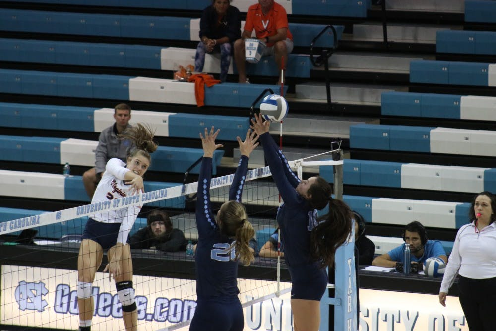 North Carolina volleyball falls to Georgia Tech, 3-2, Friday night