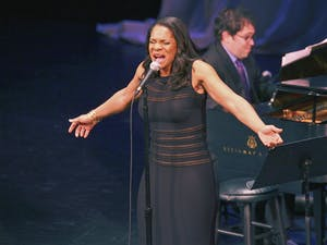 Six-time Tony Award winner Audra McDonald performs a ahow of broadway standards in Memorial Hall Friday night.