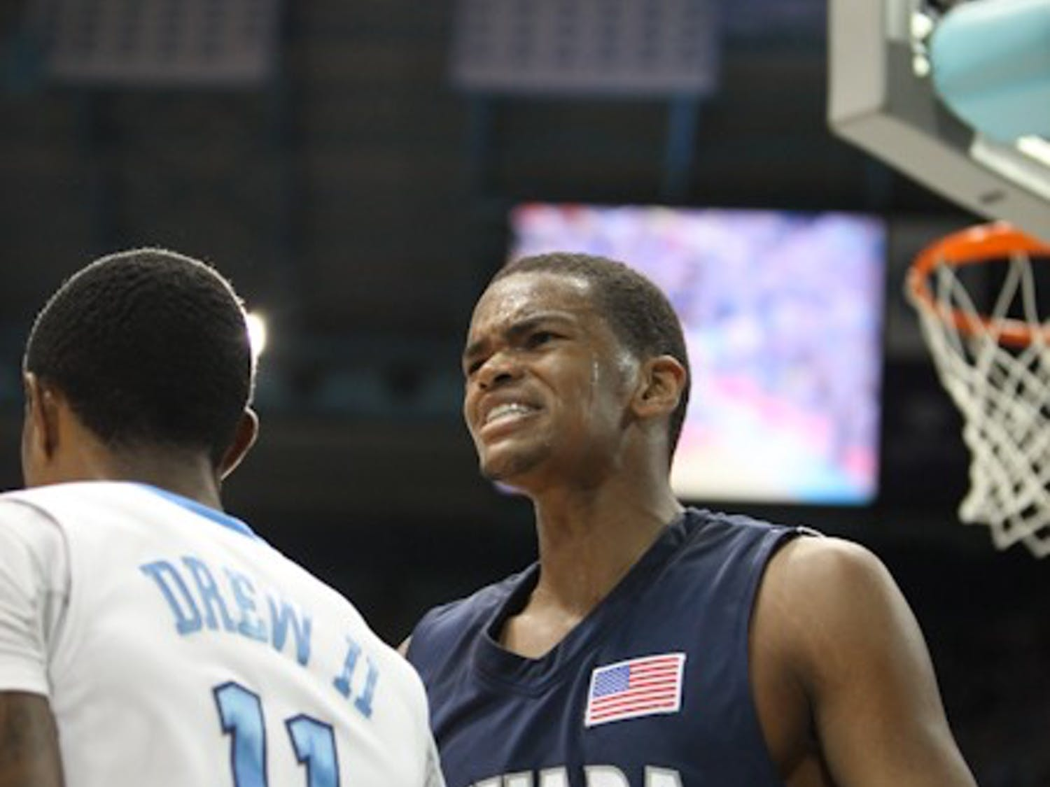 Larry Drew II helped lead the Tar Heels to a 80-73 victory against Nevada.