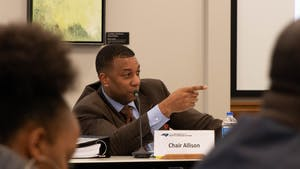 Chair Darrell Allison at a previous meeting at the UNC Center for School Leadership Development on Thursday, Jan. 24, 2019.