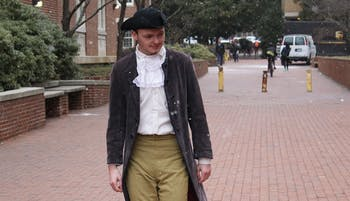 UNC celebrated Hinton James Day in honor of Hinton James, the university's first student, on Friday. Michael Ham dressed as James.