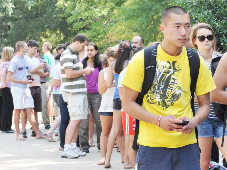 Scott Erickson - yellow shirt - Junior Sports ManagementNathan Simmons - black polo - Senior - GeologyObama NC State Line