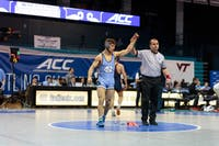 UNC wrestling redshirt senior Troy Heilmann won an ACC Championship in Carmichael Arena on March 3.