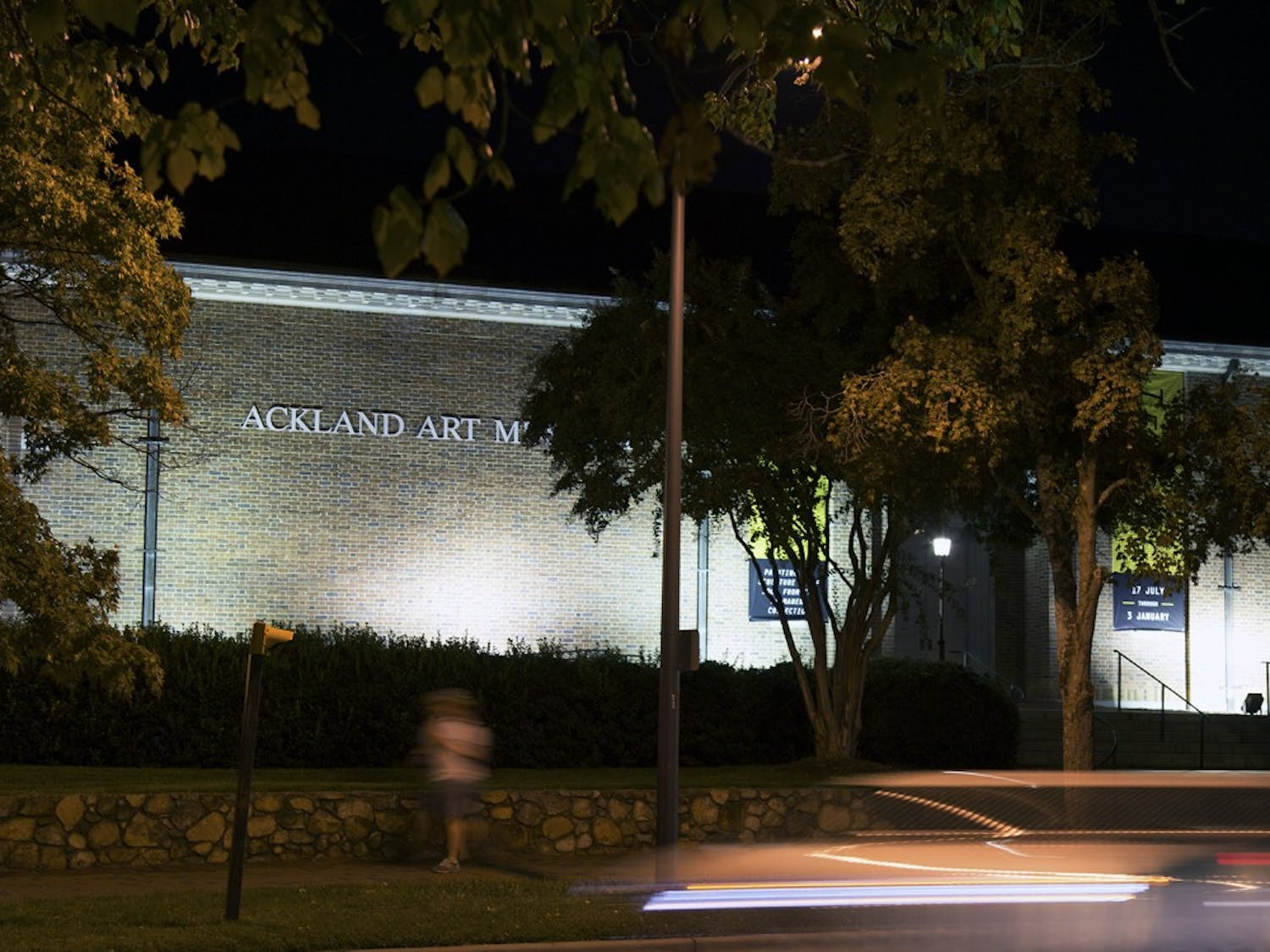 The Ackland Art Museum on Monday night.