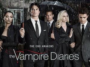 The final cast photo of season eight. Photo taken fromVampireDiariesOnline.com