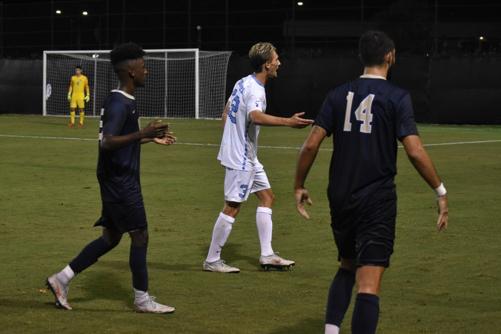 No. 3 UNC men's soccer tames the Clemson Tigers, 2-0, on Friday night