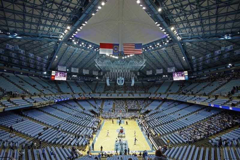 The North Carolina Tar Heels host the Duke Blue Devils at the Dean E. Smith Center on Wednesday, Feb. 8, 2012.