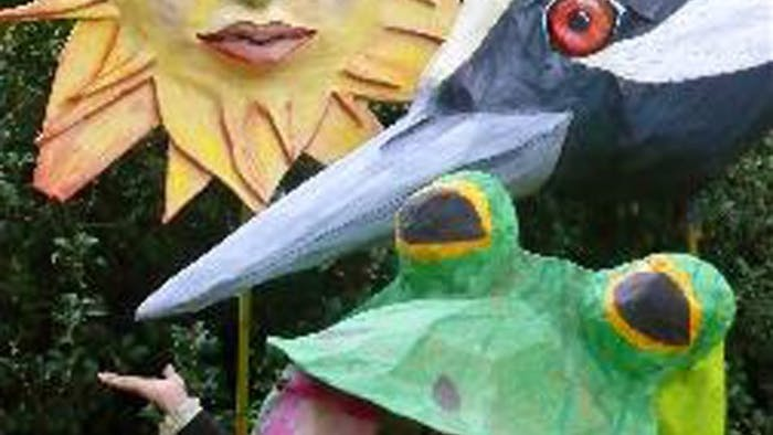 The annual Handmade Parade will take place this Saturday afternoon. The puppets in the parade have steadily gotten larger every year.   Courtesy of the Hillsborough Arts Council.