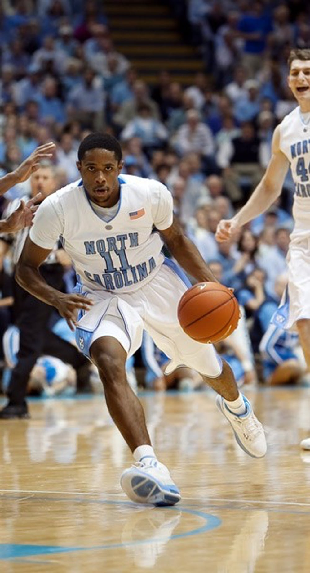Sophomore point guard Larry Drew II had a career-high 18 points and six assists on Tuesday night. DTH/Phong Dinh