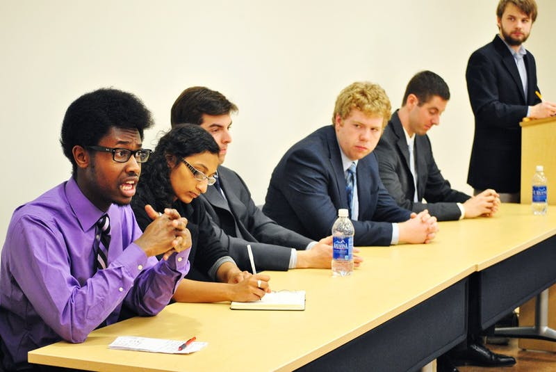 The Daily Tar Heel hosted a debate between the candidates for the Student Body President position. The candidates went over a variety of topics concerning their goals and reasons for becoming Student Body President.