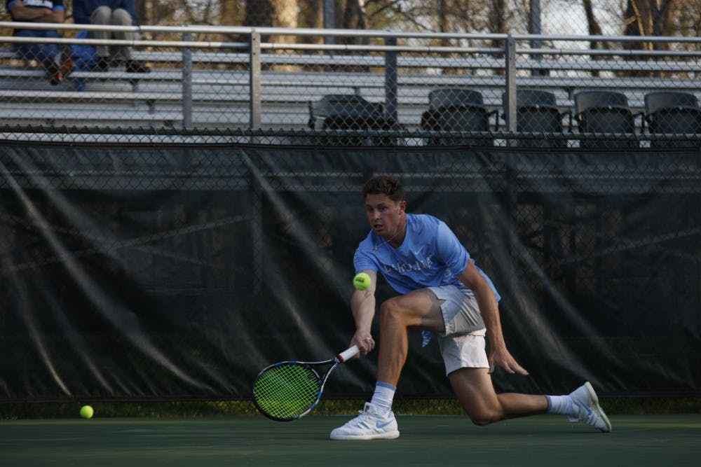 On Senior Day, No. 11 North Carolina men's tennis shuts out No. 22 Notre Dame