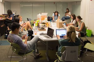 Students competed in Crash Campaign this weekend, a 24-hour long PR competition in the UNC School of Media and Journalism.