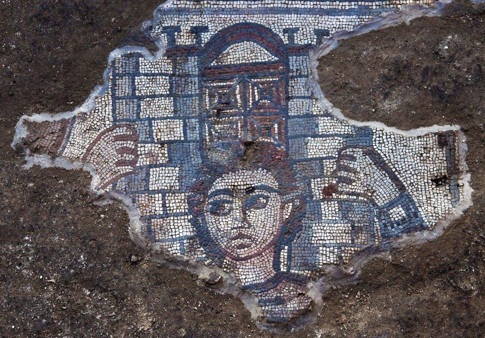 UNC team unearths ancient mosaic